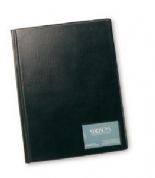 Rapesco A4 Hardbacked Display Book - 24 Clear Pockets - Black